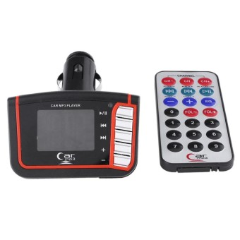 Bestprice-LCD Mobil Auto Kendaraan Nirkabel FM Transmitter USB SD TF MMC MP3 Remote Player