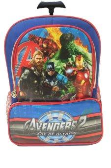 BGC Marvel Avenger Captain America Iron Man Tas Troley Sekolah Anak SD 3 Kantung