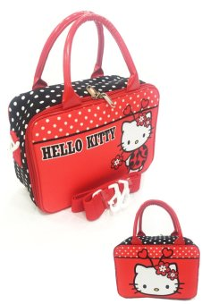 BGC Travel Bag Kanvas Mini Hello Kitty Bee + Selempang