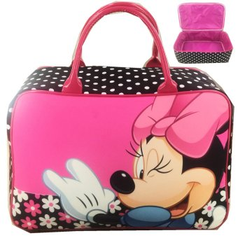 BGC Travel Bag Kanvas Minnie Mouse Jumbo - Black Pink