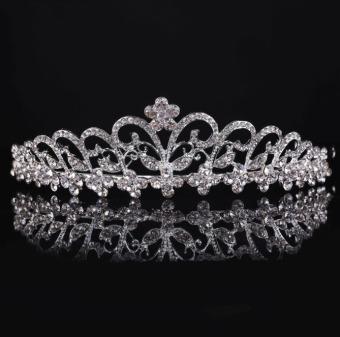 Menawan Pengantin Pernikahan Kristal Band Putri Mahkota Kepala Tiara Jilbab Bando