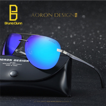 Bruno dunn Brand Designer men women Polarized Aluminum Magnesium Men's Sun glasses Male Sport Outdoor Mirror