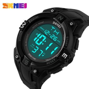 GREAT SKMEI 0989 Sniper Jam Tangan Digigtal Sport Pria Water Resistant 50m Rubber Strap Hijau Army. Source · Merek Skmei 50 Meter Waterproof Multifungsi LED ...