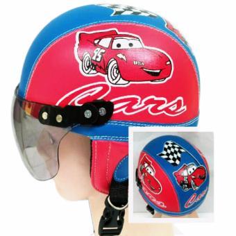 Broico Helm Anak Chip/retro/sincan lucu usia 1 - 4 tahun Motif Carz