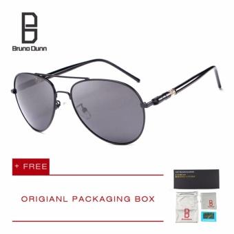 Bruno Dunn Merek TERPOLARISASI Kacamata Pria Aviator Merek Desain Berjemur Kacamata Pria Mengemudi Memancing Polaroid Poin