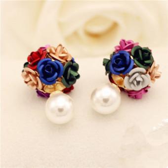 Elegan Shishang dihiasi dengan mawar bunga bola anting-anting style  anting-anting OE427OTAARA9Y2ANID- fbfc9c6b11