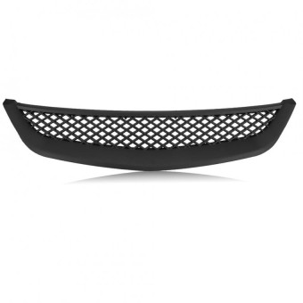 Car ABS Front Hood Mesh Bumper Grille for Honda Civic Coupe Sedan Type R 2001-