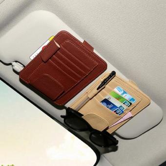 Car Card Organizer Holder Clip Sun Visor Tempat Kartu Mobil
