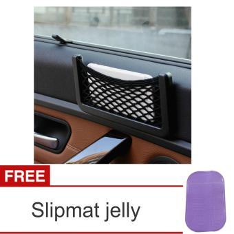Car Net Organizer Pockets Bag - Kantong Jaring Mobil kantung Hp coin dll Serbaguna + Slipmat. Brands: Lanjarjaya