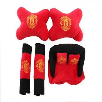 Car Set Tempat Tissue Tisu Bantal Mobil Manchester United 3 In 1 (CS3)