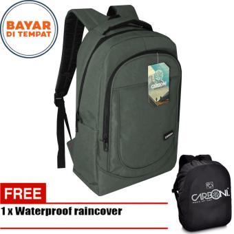 Carboni Backpack Tas Ransel Punggung Laptop Casual MA00028 15 - Grey  Original + Raincover fd89a083bd