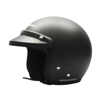 Cargloss Retro Helm Half Face - Black Doff