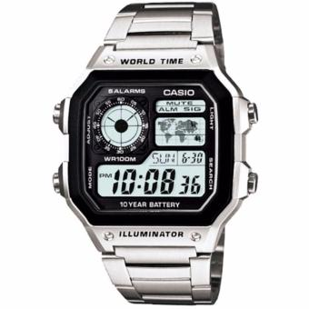Casio AE-1200WHD-1A Jam Tangan Pria Stainless Steel Silver