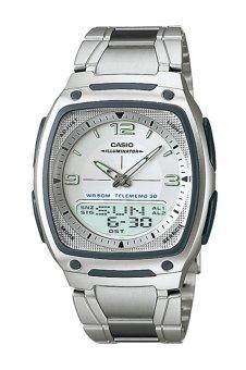 Casio Analog Digital Watch AW-81D-7AVDF - Jam Tangan Pria -Stainless steel