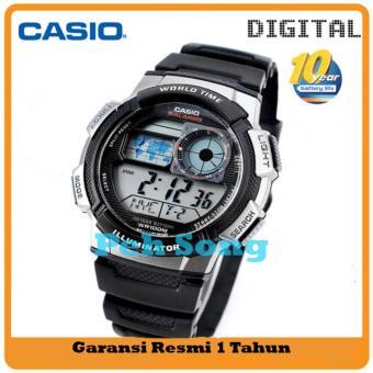 CASIO Original AE-1000W-1AVDF - Jam Tangan Pria - Tali Karet - Hitam