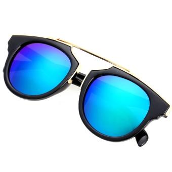 Cat Eye Retro Sunglasses -Kacamata Wanita - Hitam - CHF 008 Green