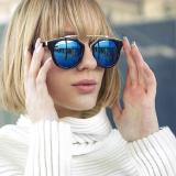 Cat Eye Retro Sunglasses -Kacamata Wanita - Hitam - CHF 008 Green - 2 ...