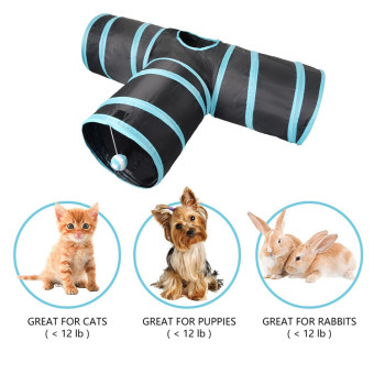 Harga Cat scrather Post, lauva Tunnel Toy for Cats Puppy Rabbit