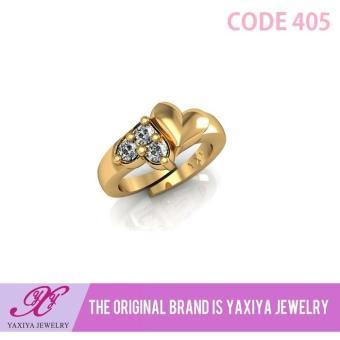 Cincin Anak Permata Perhiasan Imitasi Gold 18K Yaxiya Jewelry 405