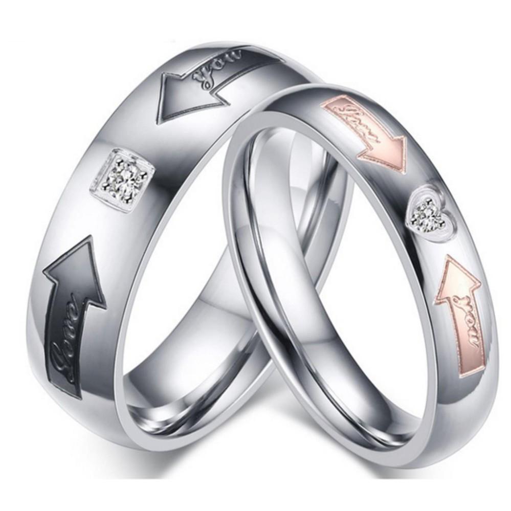 Titanium Cincin Couple Tunangan Nikah Cc076 Daftar Kawin Cr 2 Pencari Harga Anti Karat Dan Hitam