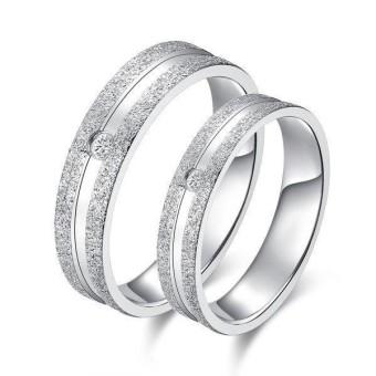 cincin couple / cincin tunangan / cincin nikah titanium anti karat dan hitam - 46