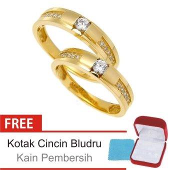 Cincin Kawin Couple Perak Lapis Emas E.05 - Silver Exclusive