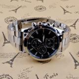 ... coconie Business About Men Stainless Steel Band Machinery Sport Quartz Watch - intl - 5