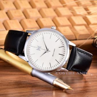 Hot Deals Costielan-Bonico- JamTangan Pria - Body Silver - White - Dial -