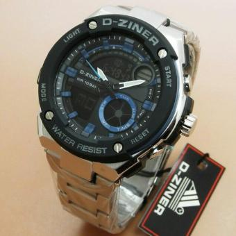 Dual Time Rubber Strap Hitam Biru Dz 7011 Murah Indonesia. Source ·