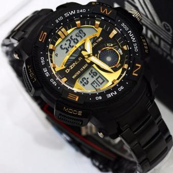 D-ziner Jam Tangan Rantai Dual Time Pria - DZ RQ11 (OVERSEAS)