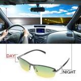 Hari Night Vision Kacamata Hitam Terpolarisasi Pria Mengemudi Pilot Cermin Matahari Kacamata-Internasional - 2
