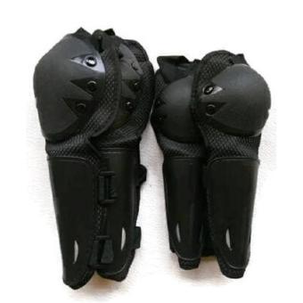 Deker Pelindung Lutut dan Siku 2 Pasang Warna Hitam