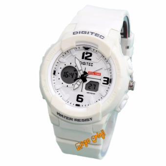 Digitec - DG2111L - Jam Tangan Wanita Dual Time - Strap Karet - Putih