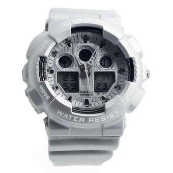 Digitec Dual Time Jam Tangan Sport Pri - Putih - Rubber Strap - D 2081 W