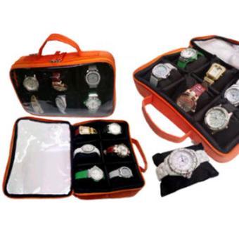 Emwe WCO Watch Case organizer tas tempat kotak simpan jam gelang tangan aksesoris perhiasan - Orange
