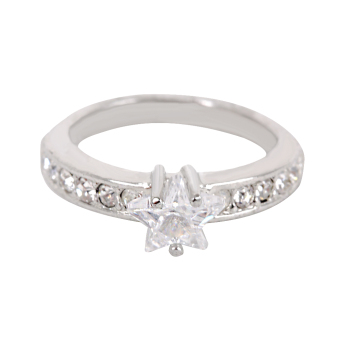 Eyo Jewelry Cincin Wanita SR 9464 Silver Star Qubik
