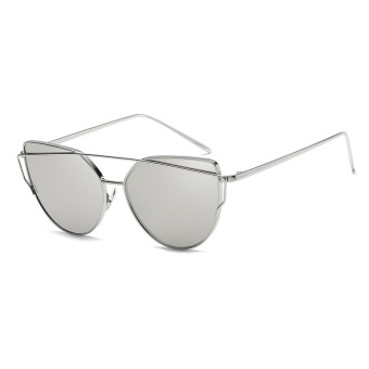 Fashion Baru Logam Warna Film Kacamata Pria And Wanita Retro Style Sunglasses-Bright Black Box