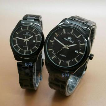 Fortuner- Jam Tangan Couple - Stainless Steel Strap-FR1052KPK