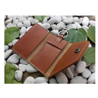 gantungan kunci kulit mobil/motor dompet STNK kulit asli