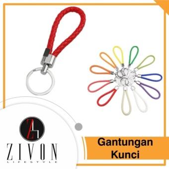 [PROMO] Gantungan Kunci Key Chain Keyring Key Ring Kulit Sintetis Model Tali KeyChain XXH3