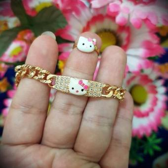 gelang cincin kitty anak xuping gold