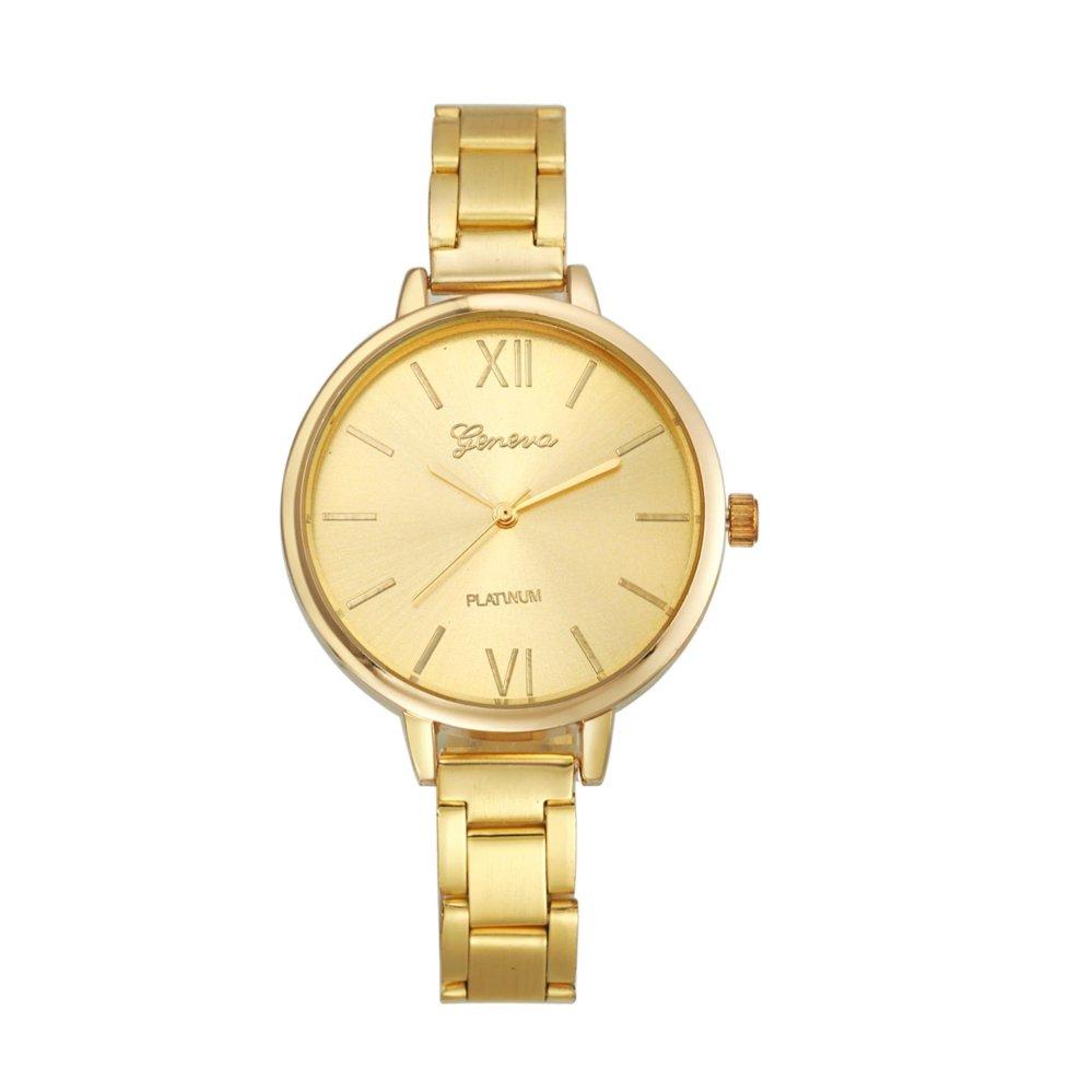 geneva platinum gold elegant jam tangan fashion