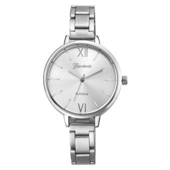 Geneva 640135 Jam Tangan Wanita Crystal Embellished Dial Silver. Source · Geneva Platinum Silver Elegant Jam Tangan Fashion