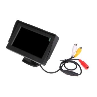 "\""Hadiah 4.3 \""\""TFT LCD Monitor Mobil Reverse Rearview Warna Kamera DVD VCR CCTV-Intl\"""