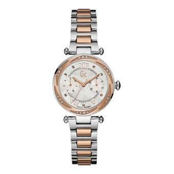 GUESS COLLECTION Gc LADYCHIC Y06112L1 - Jam Tangan Wanita - Stainless - Silver - Rose Gold