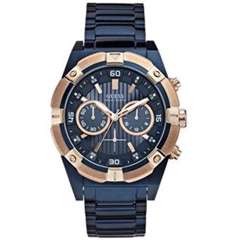 Guess Jam Tangan Pria Guess W0377G4 Jolt Chronograph Blue Stainless Steel Watch