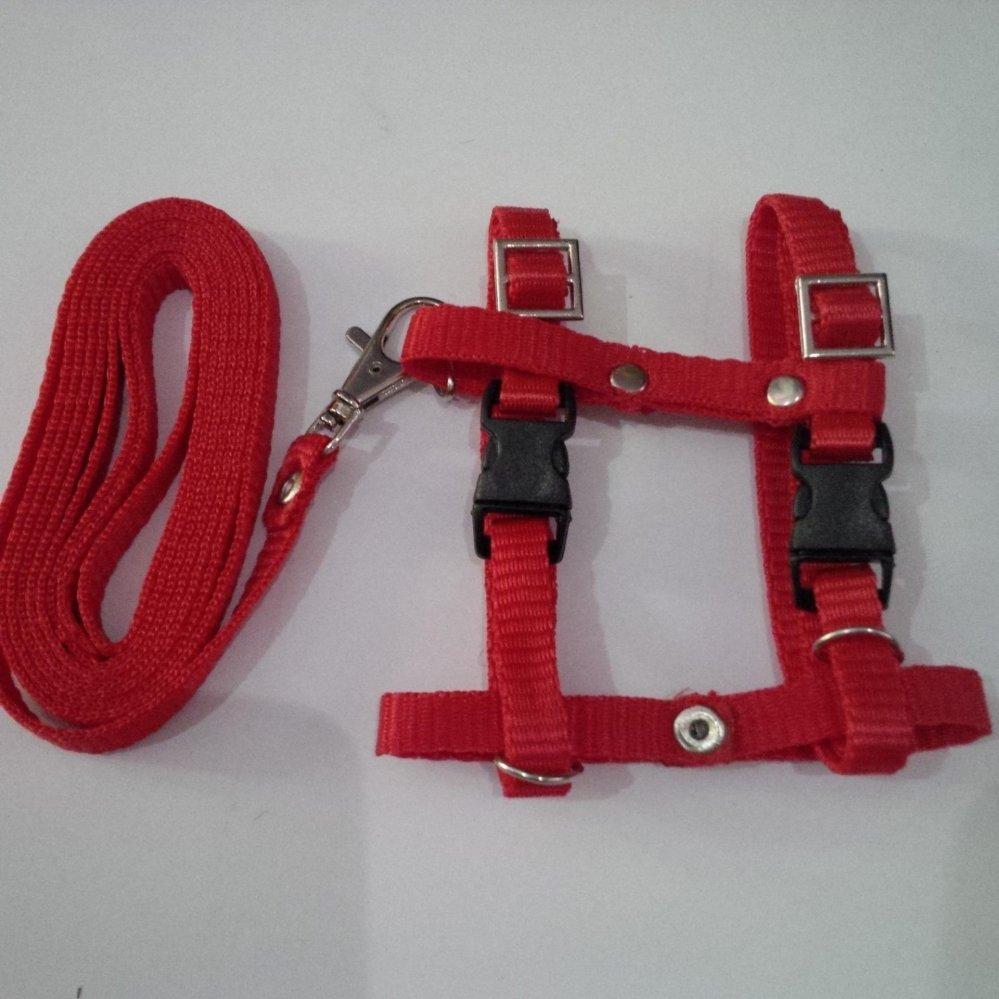 """Bandingkan Toko """"Harness H uk S + Leash Merah untuk Kucing, Kelinci, Musang"""