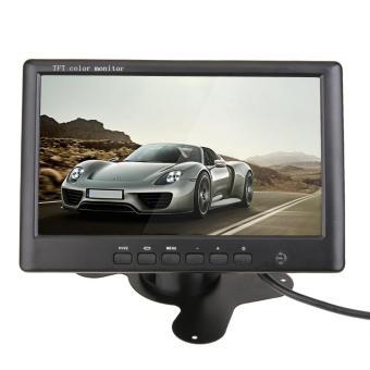 HD 800x480 7 Inch Warna TFT LCD Car Rear View Monitor dengan 2 Channel Video Input