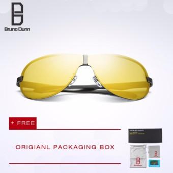HDCRAFTER Pria Kacamata Terpolarisasi Lensa Driver Sun Glasses Retro Fashion Polarized Sunglasses dengan UV Sunglasses E008