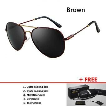 HDCRAFTER Pria Kacamata Terpolarisasi Mengemudi Kacamata Dalam Yang Canggih Lapisan (Brown)-Intl